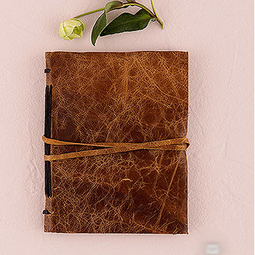 Leather Bound Rustic Style Guest Book