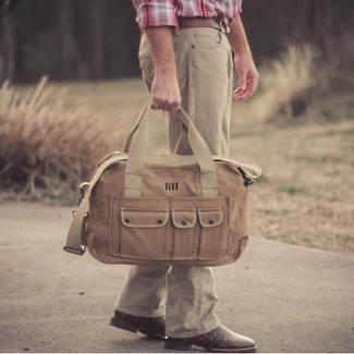Groomsmen Vintage Military Canvas Duffel Bag