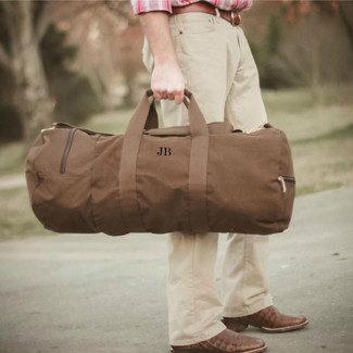 Groomsmen Canvas Duffel Bag