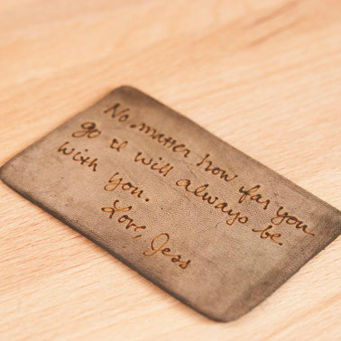 Personalized Leather Wallet Insert