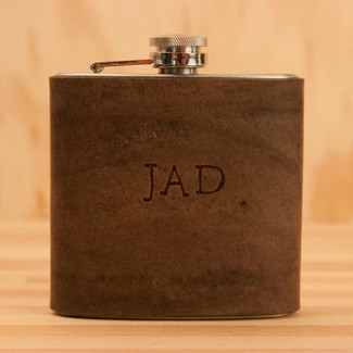 Monogram Leather Flask