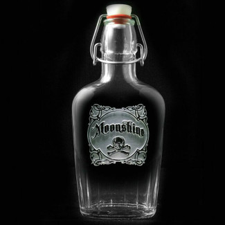Moonshine Skull and Bones Flask