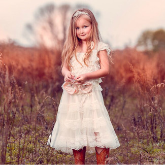 The Eloise Flower Girl Dress in Ivory