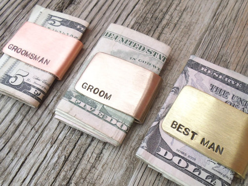 Bridal Party Money Clips