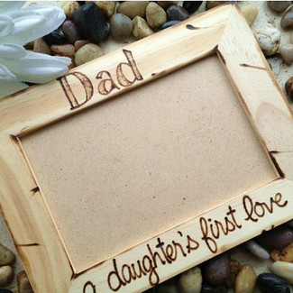 Dad, A Daughter's First Love Picture Frame
