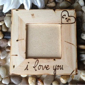 Rustic I Love You Picture Frame