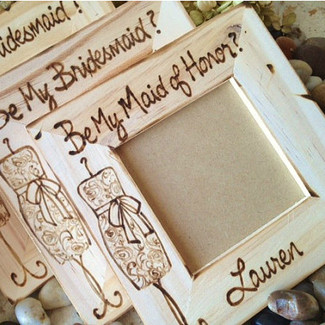 Will You Be My MOH / Bridesmaid Wood Frames - Set of 3
