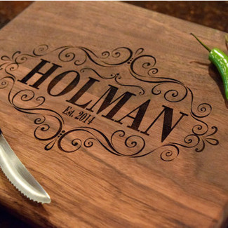 Laser Engraved Wedding Cutting Board