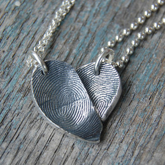 Best Friends Fingerprint Necklaces