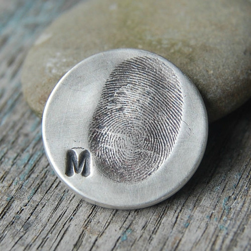 Custom Sterling Fingerprint Golf Marker