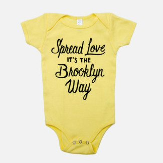 Spread Love It's the Brooklyn Way Baby Onesie