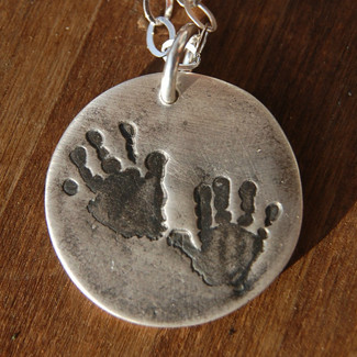 Custom Hand Print Necklace