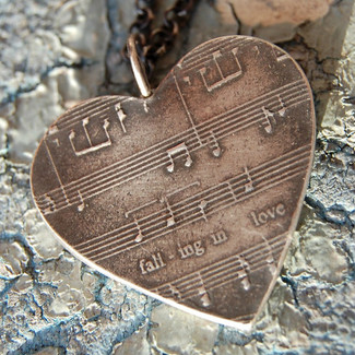 Silver Sheet Music Necklace