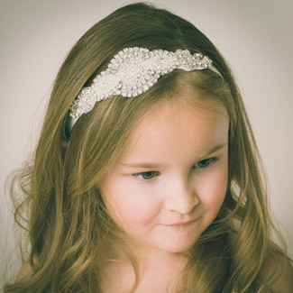 Flower Girl Crystal Headband