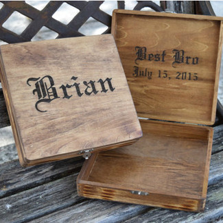 Rustic Wedding Cigar Box