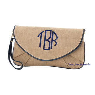Burlap Bridesmaid Wristlet