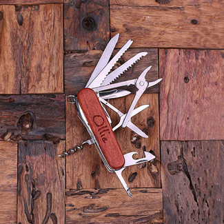 Personalized Swiss Army Ultility Pocket Knife