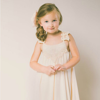 The Grace Flower Girl Dress in Blush