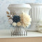 Ivory Rose Flower Hair Comb Collage