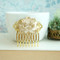 Large Gold Rose Vintage Hair Comb