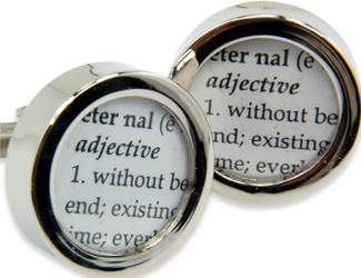 Wedding Cufflinks Definition of Eternal Love