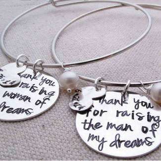 Thank you for raising the man of my dreams - Mother's Bracelets
