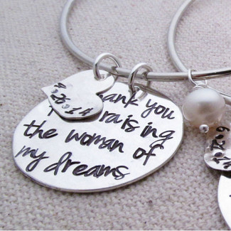 Thank you for raising the woman of my dreams - Mother's Bracelet