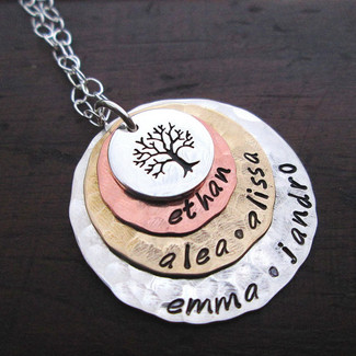 Stacked Family Tree Necklace