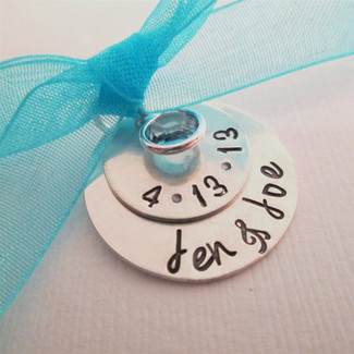 Something Blue Bridal Charm