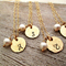 Gold Bridesmaid Initial Necklaces - Set of 4