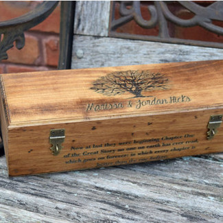 Wedding Gift Wine Box with Quote