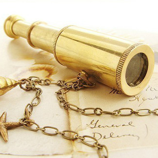 Miniature Spyglass Necklace