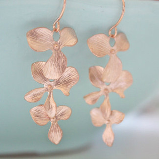 Orchid Dangle Earrings