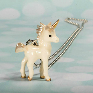 Flower Girl Unicorn Necklace