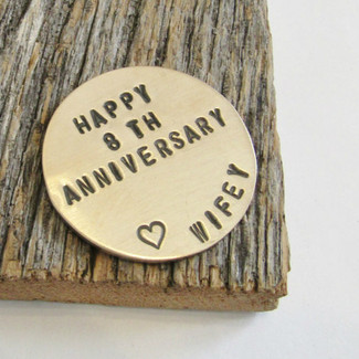 Anniversary Golf Ball Marker for Husband