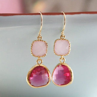 Dangle Blush Pink Earrings
