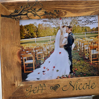 Love Birds Wooden Frame