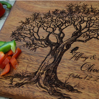 Love Birds Tree Cutting Board