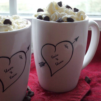 Personalized Sweethearts Wedding Mugs - Set of 2
