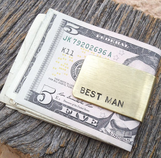 Best Man Gift Money Clip