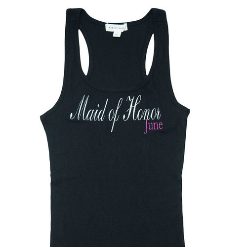 Personalized Maid of Honor Tank Tops