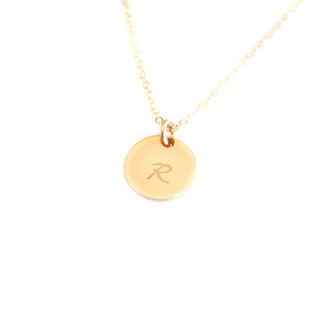 Bridesmaid Dainty Initial Necklace