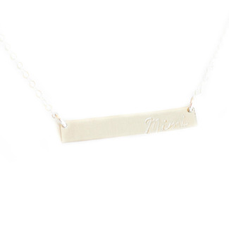 Grandmother Bar Necklace
