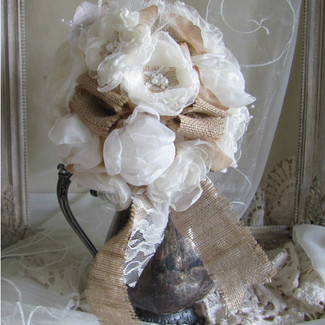 Burlap Bridal Rustic Wedding Bouquet