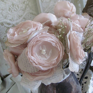 Fabric Flowers Wedding Centerpiece