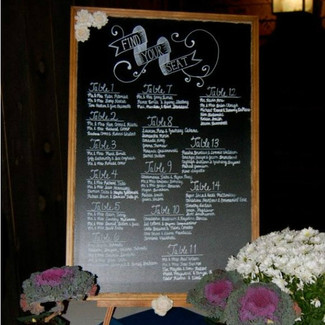 Rustic Wedding Chalkboard Display