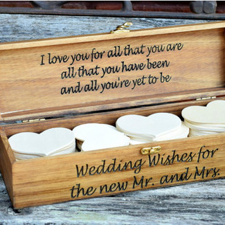 Wedding Advice Box - Guest Book Alternative