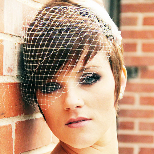 Wedding Bandeau Birdcage Veil