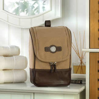 Personalized Canvas and Leather Bag
