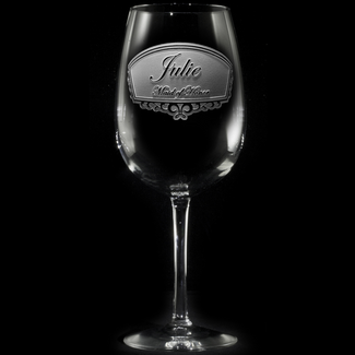 Bridal Party Personalized Wine Glasses